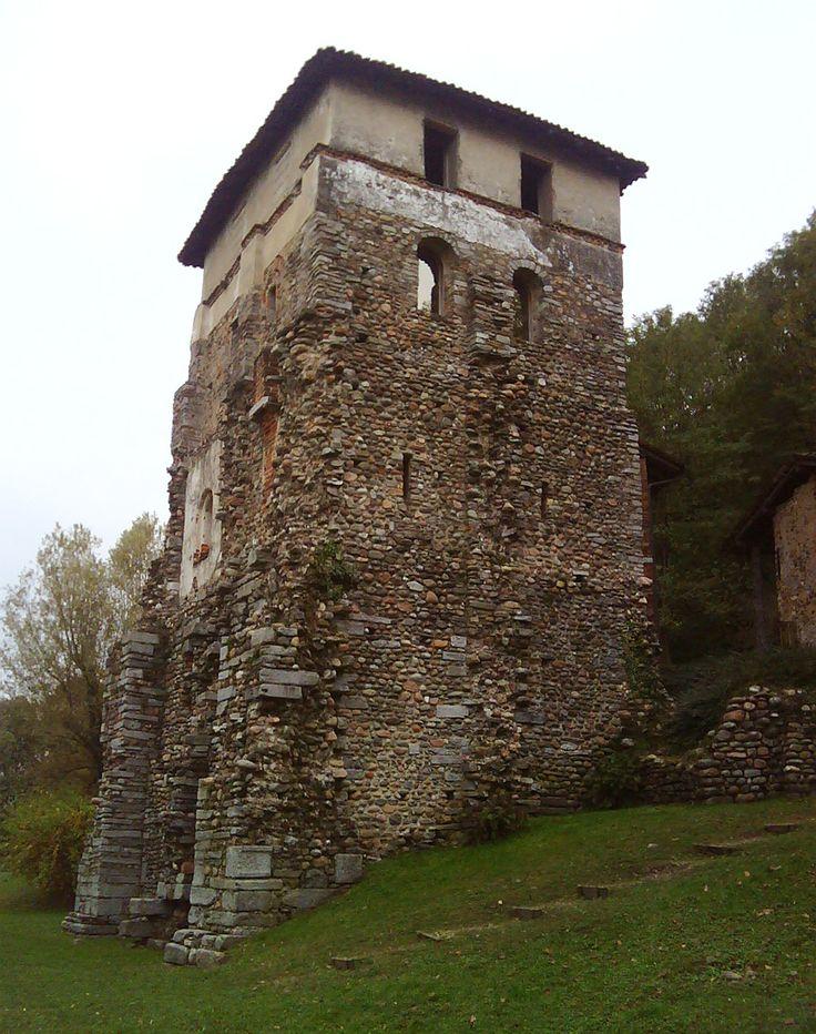Bizantine tower, 6th Century AC, Torba. Gornate Olona, Varese. Italy