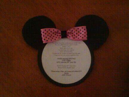 Minnie Birthday invitation - made by me
