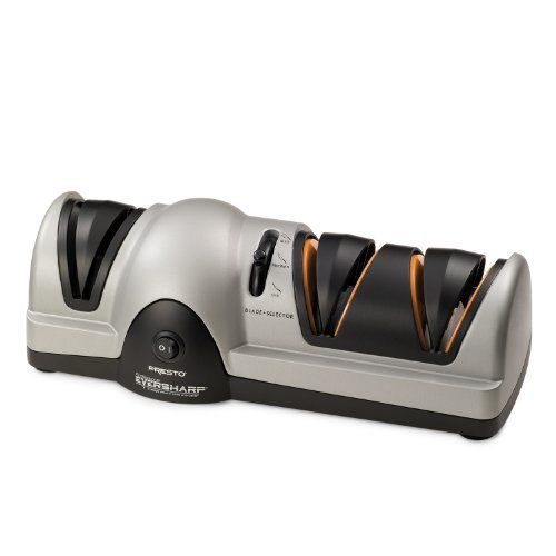 #Professional EverSharp Electric Knife Sharpener works great on kitchen knives, hunting knives and fillet knives. 120 volts, 60 Hz only