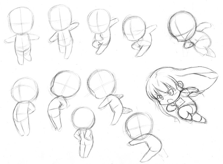 Best Chibi Poses Images On   Drawing Ideas Drawing