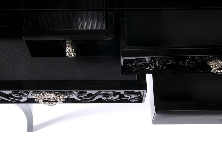 York Black Console Table by Boca do Lobo    It excels by being one of the most classic additions to Soho Collection, and fits perfectly a modern entrance hall, bringing an elegant touch to any decor   Discover more about Soho Collection: www.bocadolobo.com