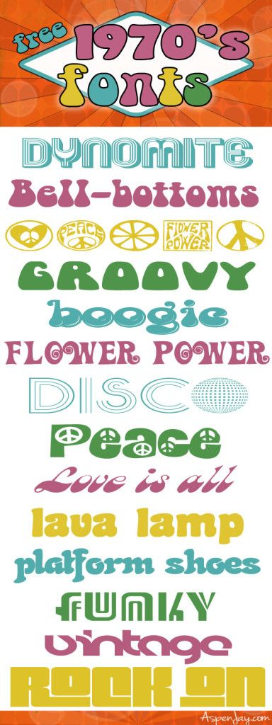 free groovy 70s fonts