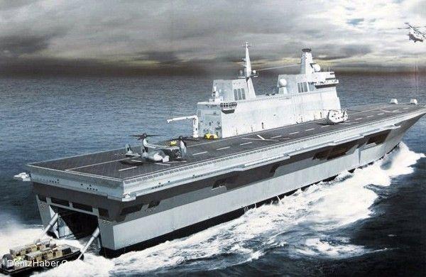 Havuzlu Çıkarma Gemisine Uçak Gemisi Ayarı Yapılacak