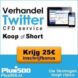Handel in Twitter: begin met 25 euro gratis, zonder risico