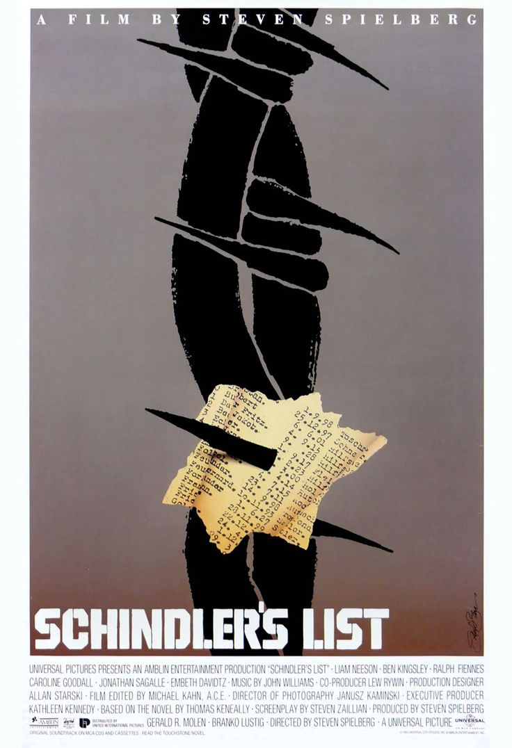 Film Posters by Saul Bass- Schindler's List