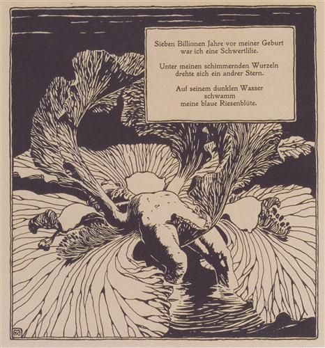 Iris. Illustration to a poem by Arno Holz. - Koloman Moser