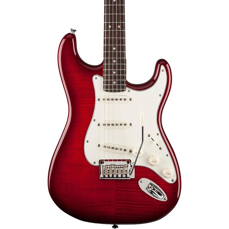 Squier Standard Stratocaster FMT Transparent Crimson Red