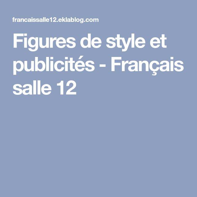 Figures de style et publicités   Figure de style, Texte ...