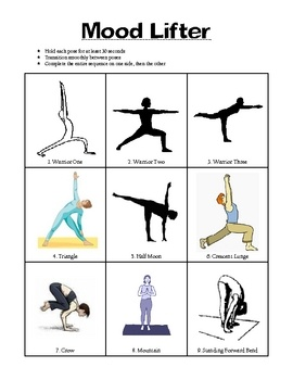 yoga unit plan includes appendix  basic yoga poses