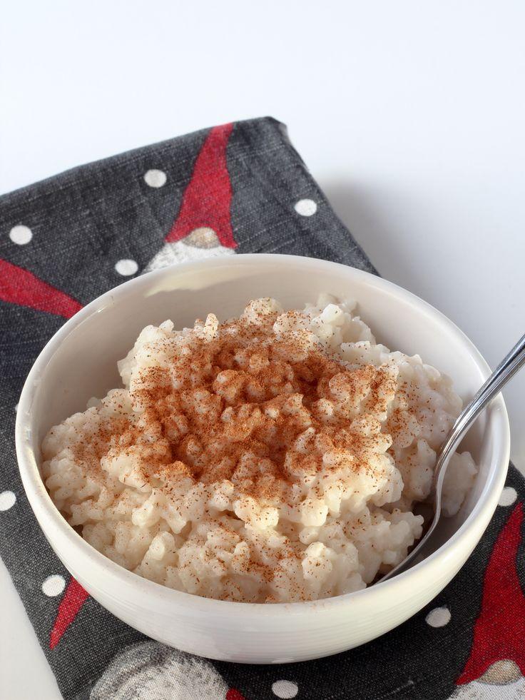 Vegansk risgrynsgröt. Vegan rice porridge.