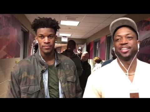 Jimmy Butler and Dwayne Wade on tonight Chicago Bulls W! - YouTube