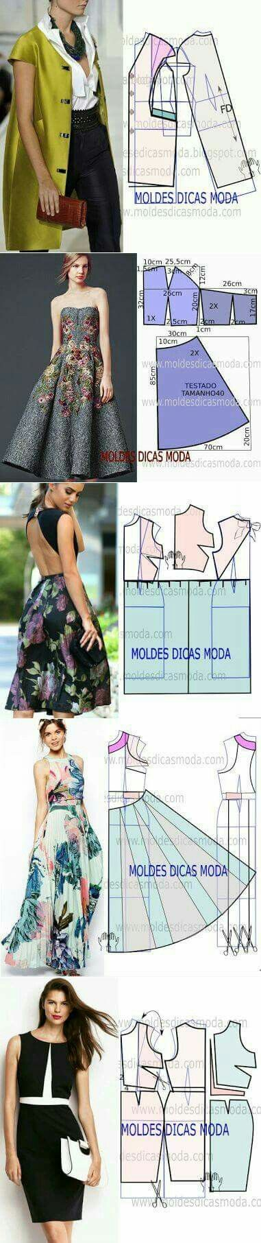 83 best Patrones images on Pinterest | Sewing patterns, Factory ...