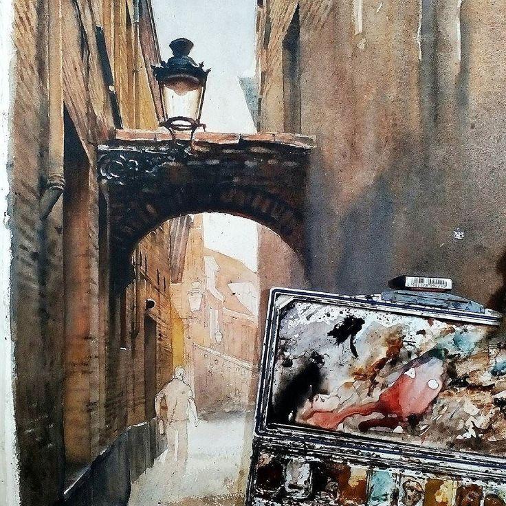 Day 3. #watercolor #danielsmith #montval