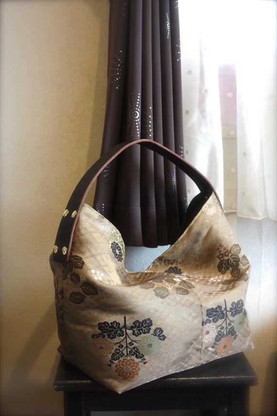 OBi / Kimono / Bag / BG685 Antique Obi Big Tote by RummyHandmade