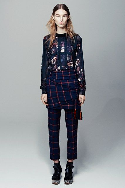 Catwalk photos and all the looks from Thakoon Addition - Pre Autumn/Winter 2014-15 Ready-To-Wear New York Fashion Week