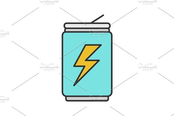 Energy Drink Can Color Icon Energy Drink Can Best Energy Drink Best Mixed Drinks