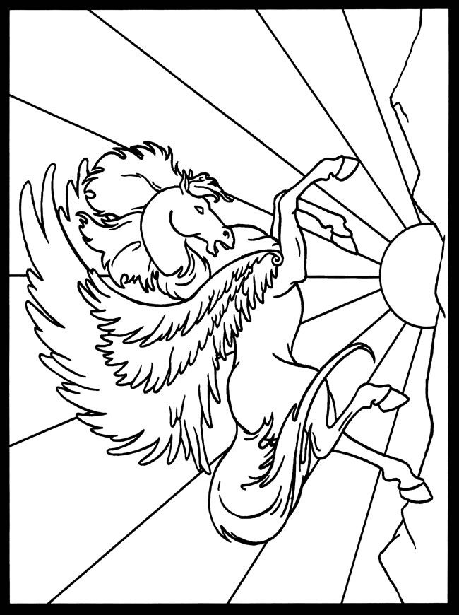 Kleurplaat Carousel 97 Best Images About Pegasus To Color On Pinterest