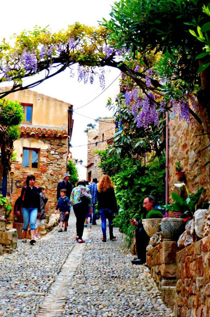 Cobbled Narrow Tossa De Mar Streets