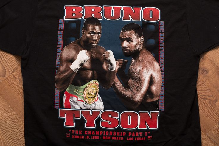 Vintage 90s Frank Bruno vs Mike Tyson T-Shirt, 1996 Boxing Match Fight, MGM Grand, Las Vegas