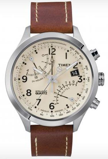 GQ shows that trends in men's watches are combining most timepieces with carmel colored leather bands. Popular brands include Timex, Certina, Brera, Hermes and U-Boat. These pieces can get beat up because the leather looks better in time making them a sustainable fashion accessory that will last a very long time. Emily W.