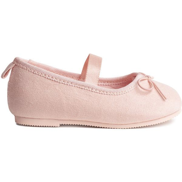Ballet Flats $9.99 (32 BRL) ❤ liked on Polyvore featuring shoes, flats, pink bow flats, embellished shoes, pink ballet shoes, ballet flat shoes and pink ballet flats