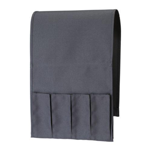 IKEA - FLÖRT, Vak voor afstandsbediening, , Voor 4 afstandsbedieningen en met zak aan de achterkant voor kranten.Ook te gebruiken onder een dekmatras omdat de metalen verzwaring aan de binnenkant eenvoudig te verwijderen is.
