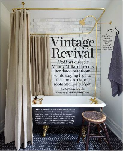 Navy Blue Ikat Curtains Clawfoot Tub Shower Attach
