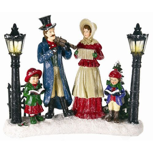 Victorian Christmas Carolers Decorations: Victorian Christmas Caroler Figures