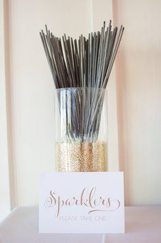 Sparkler Holder Vase With Sign. Sparkler Holder Vase With Sign on Tradesy Weddings (formerly Recycled Bride), the world's largest wedding marketplace. Price $15.00...Could You Get it For Less? Click Now to Find Out!
