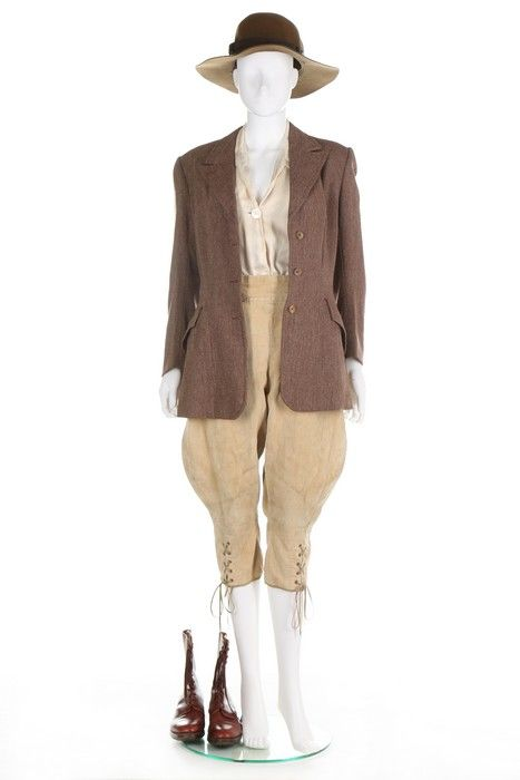 Woman's Land Army ensemble and separates, 1940's, English.