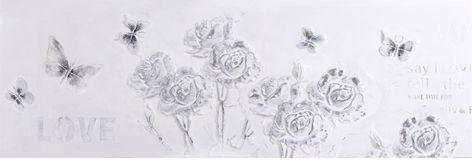 """Schilderij """"Zilver-witte rozen"""" te koop @Betaalbarekunst.nl"""