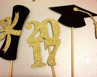 Centro de mesa graduación pega 2017 fiesta de graduación
