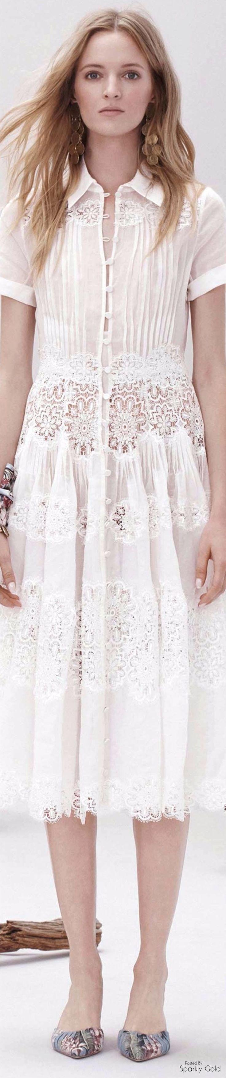 Zimmermann ~ Resort 2017 ..cotton & lace white dress..