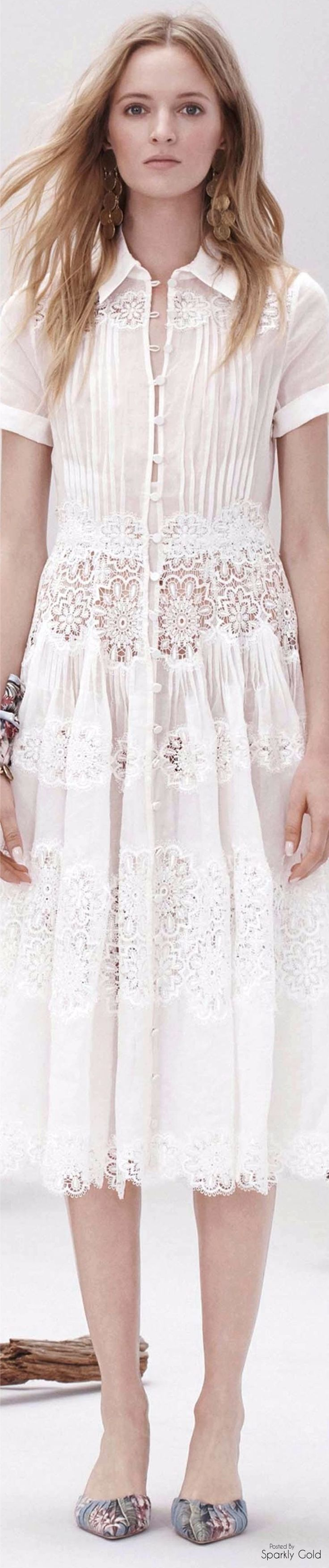 Zimmermann ~ Resort 2017 ..cotton & lace white dress..