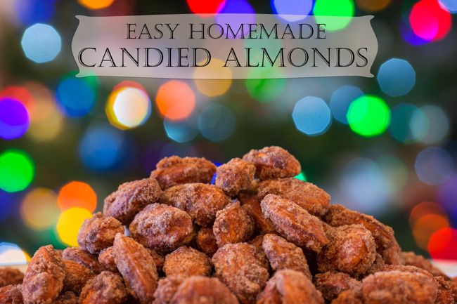 Easy Homemade Candied Almonds - These make perfect gifts and the recipe works for other nuts too. This year, we're using pecans!