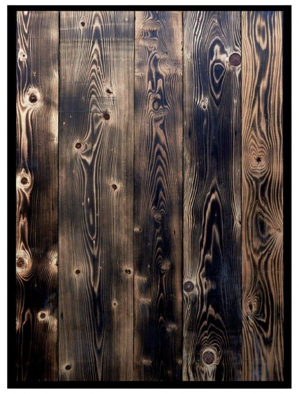 Reclaimed Burnished Pine Wood Cladding from Reclaimed Brick-Tile. Priced at £60 per square metre. Perfect for a rustic interior design project