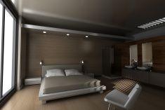 クラシックスタイルのホテルルームとバスルーム stock photo
