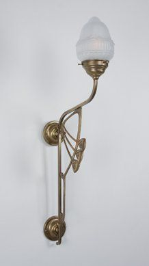 335 euro Elegante Jugendstil-Leuchte BEKE in Messing von Berliner Messinglampen - Lampen Suntinger Shop