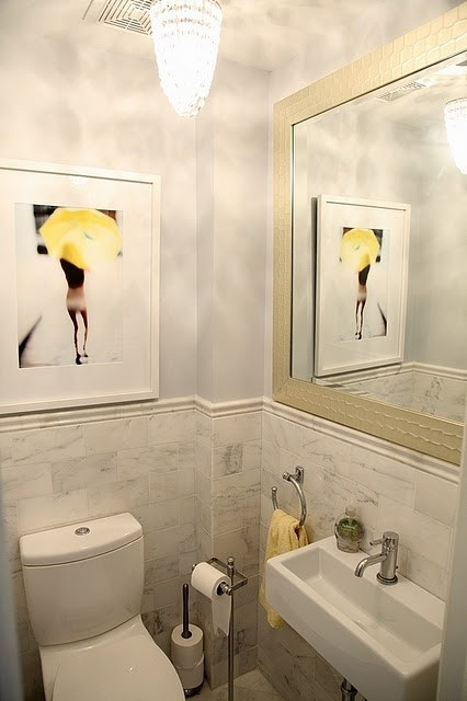 1000 ideas about small powder rooms on pinterest small for Small yellow bathroom ideas