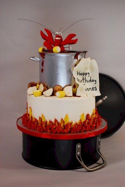 Crawfish Boil Birthday Cake