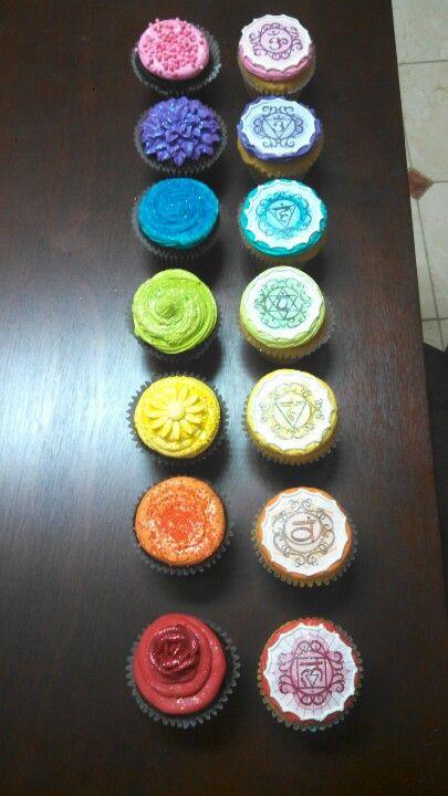Sparkling Karmic Chakra Cupcakes