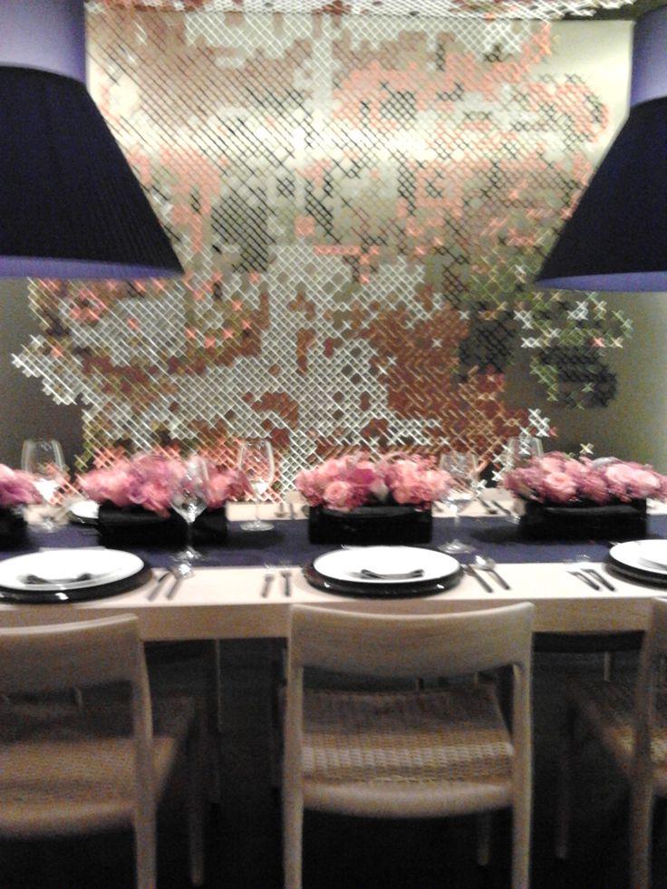 Floral arrangements caught my eye.
