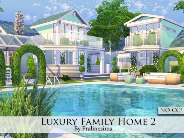 Luxury Family Home 2 by Pralinesims at TSR via Sims 4 Updates
