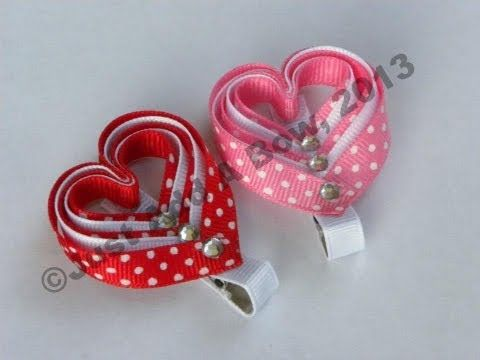 HOW TO: Make a Layered Valentine's Day Heart Clip Tutorial by Just Add A Bow