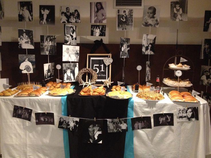 Mesa de chuches para fiesta de 50 a os mesas chuches - Ideas para cumpleanos adultos ...