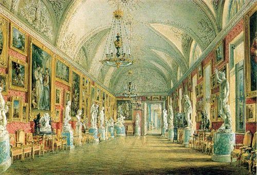 В.Садовников_Картинная (Античная) галерея в Юсуповском дворце, 1854.