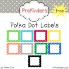 A set of free printable polka dot labels for your classroom. Labels come in 10 colors plus a set of bold black dots.     Note: This is a Zip file con...