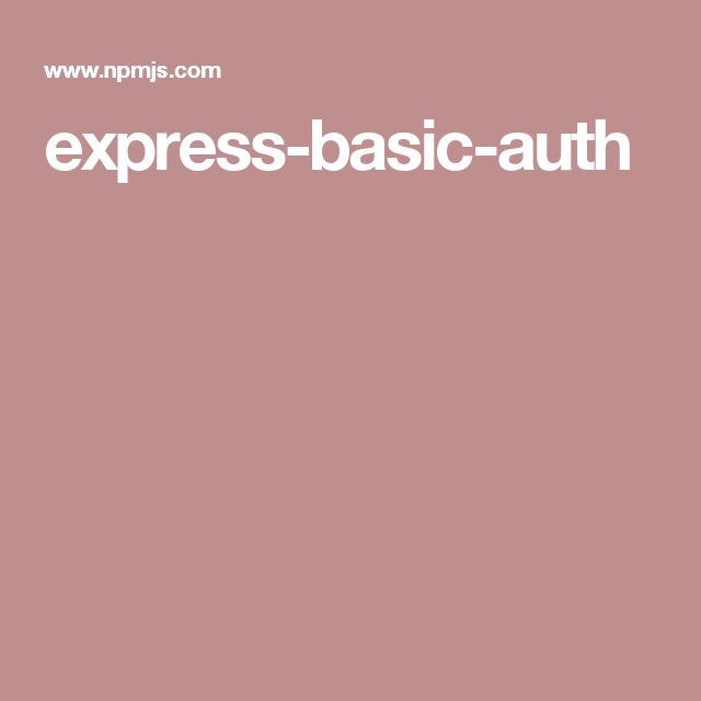 express-basic-auth