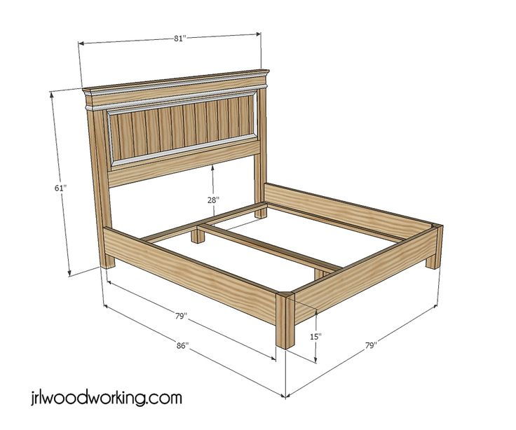 Furniture Plans: Ana White Inspired Fancy Farmhouse King Size Headboard And  Bed Frame