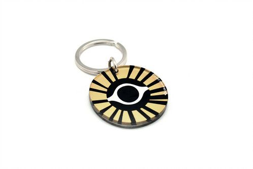 Gold evil eye | two sided plexiglass keychain | screenprinted & lazer cutted | designed and made in Greece